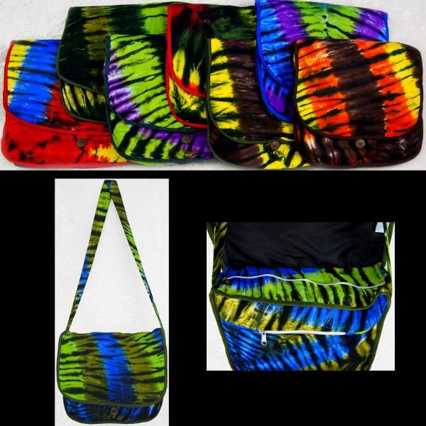 Karma Tie-Dye Courier Bag-Bags & Accessories-Peaceful People