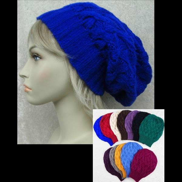 6 Knit Slouch Beanie ($5.90 each)-Bags & Accessories-Peaceful People