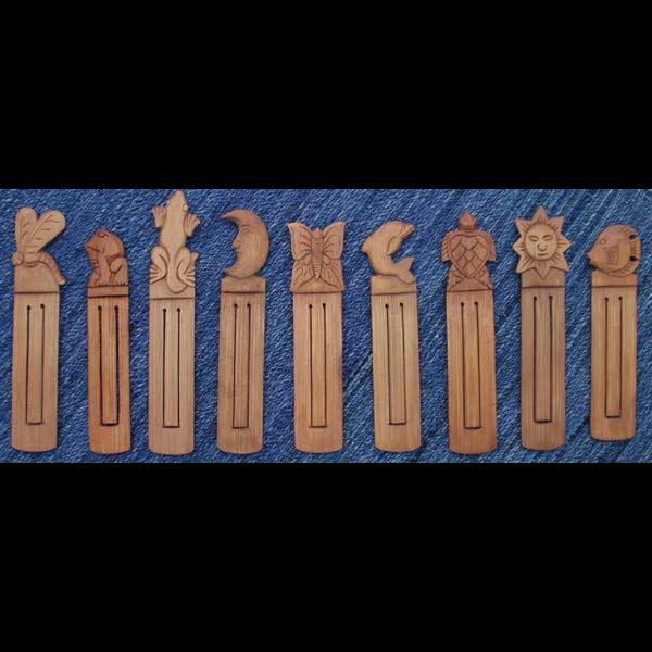 12 Carved Bamboo Bookmarks ($1.10 each)-Handicrafts-Peaceful People