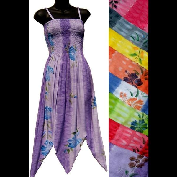Banded Flower Fairy Sarong Dress-Dresses-Peaceful People