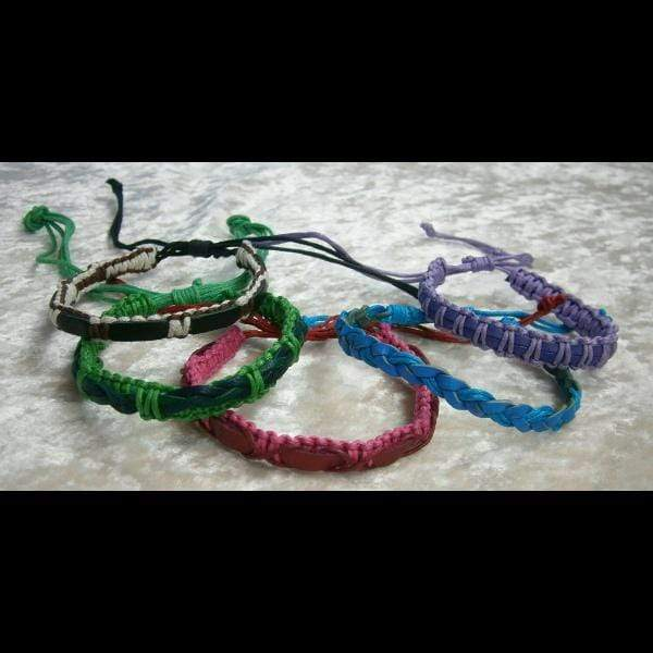 Leather & Cord Bracelets (DISPLAY PACKAGE)-Bracelets & Jewelry-Peaceful People