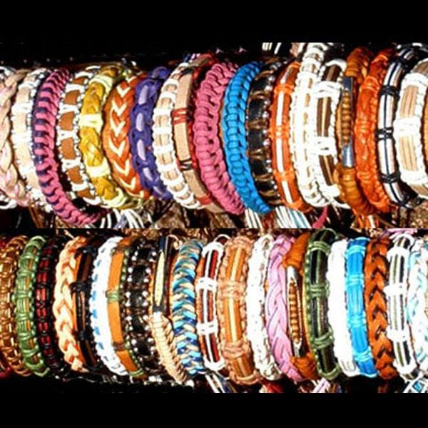 50 Leather & Cord Bracelets ($0.50 each)-Bracelets & Jewelry-Peaceful People