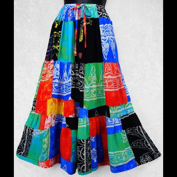 Masala Long Patchwork Skirt-Skirts-Peaceful People