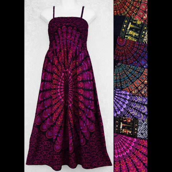 Primitive Mandala Sarong Dress-Dresses-Peaceful People