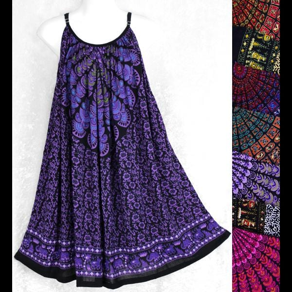 Primitive Mandala Parachute Dress-Dresses-Peaceful People