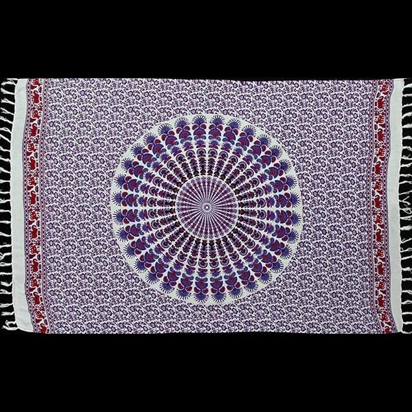 Bright Mandala Sarongs with Sequins-Sarongs-Peaceful People