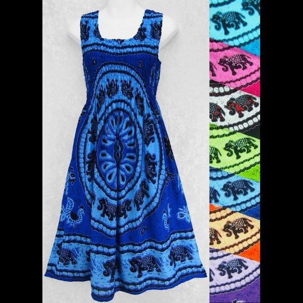 Mandala Tank Sarong Dress-Dresses-Peaceful People