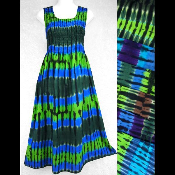 Mantra Tie-Dye Sarong Tank Dress-Dresses-Peaceful People