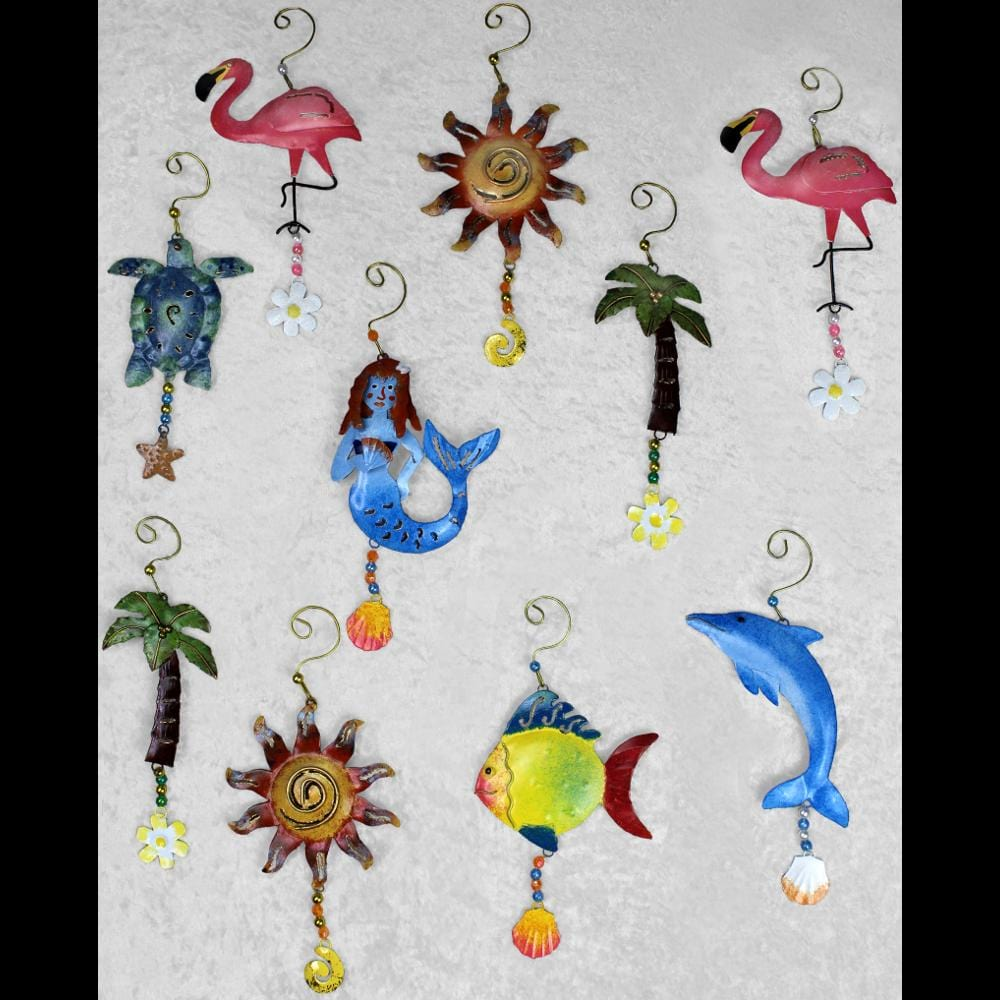 Set of 10 Mixed Tropical Ornaments ($1.95 each)-Handicrafts-Peaceful People