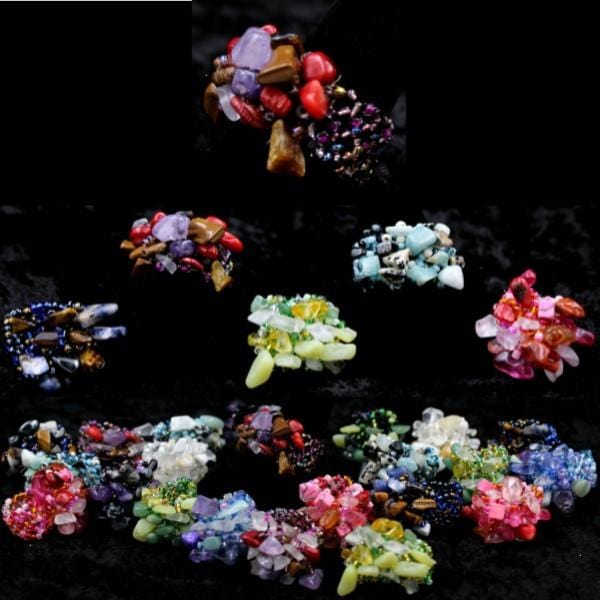 50 Beaded Mix Ring ($0.45 each)-Bracelets & Jewelry-Peaceful People