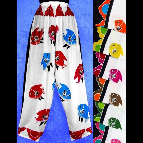 Multi-Color Fish Pants-Pants-Peaceful People