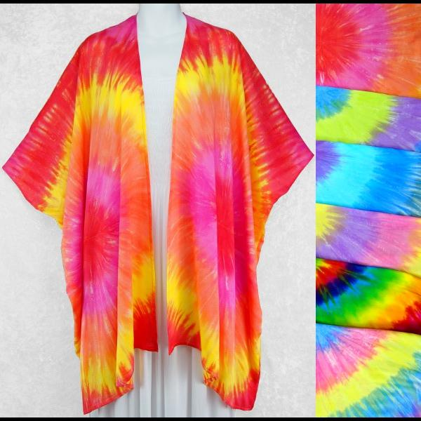 Soft Tie-Dye Kimono Top-Tops-Peaceful People