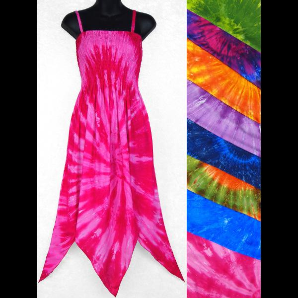 Nebula Tie-Dye Fairy Sarong Dress-Dresses-Peaceful People