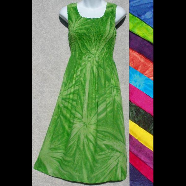 Fizzy Tie-Dye Sarong Tank Dress-Dresses-Peaceful People