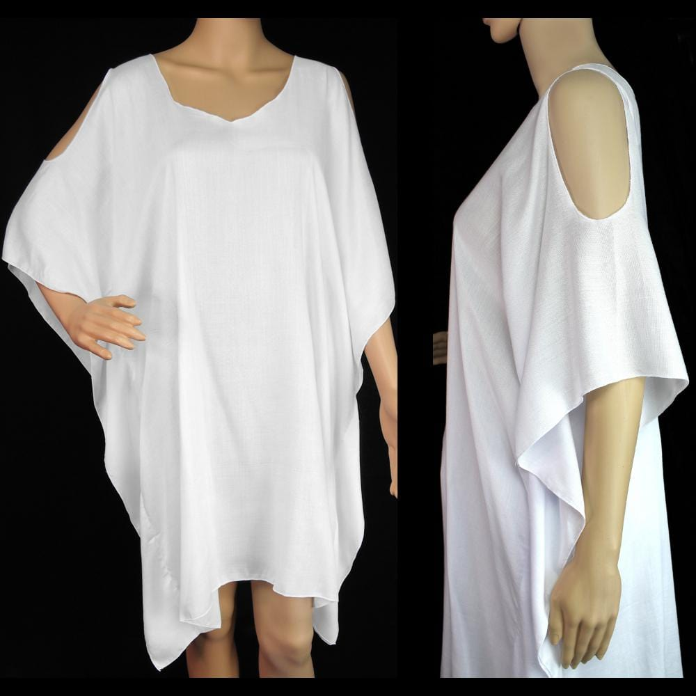 White Open Shoulder Top-Tops-Peaceful People