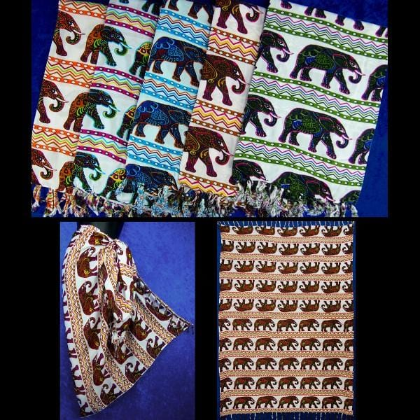 Elephant Sarongs-Sarongs-Peaceful People