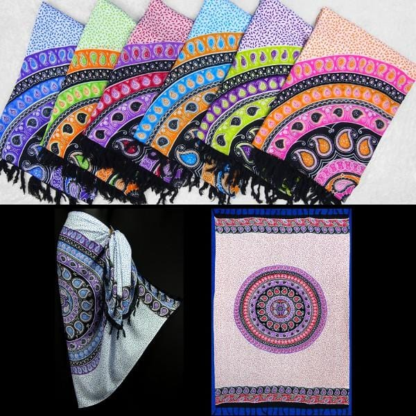 Paisley Mandala Sarongs-Sarongs-Peaceful People