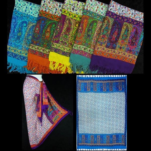 Paisley Border Sarongs-Sarongs-Peaceful People