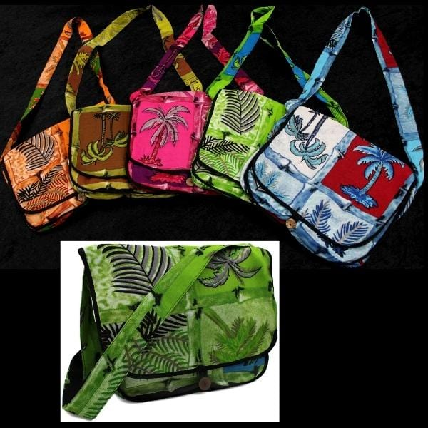 Palm Tree Courier Bag-Bags & Accessories-Peaceful People