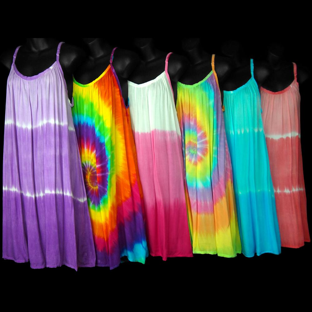 Garcia's Tie-Dye Mix Parachute Dress-Dresses-Peaceful People