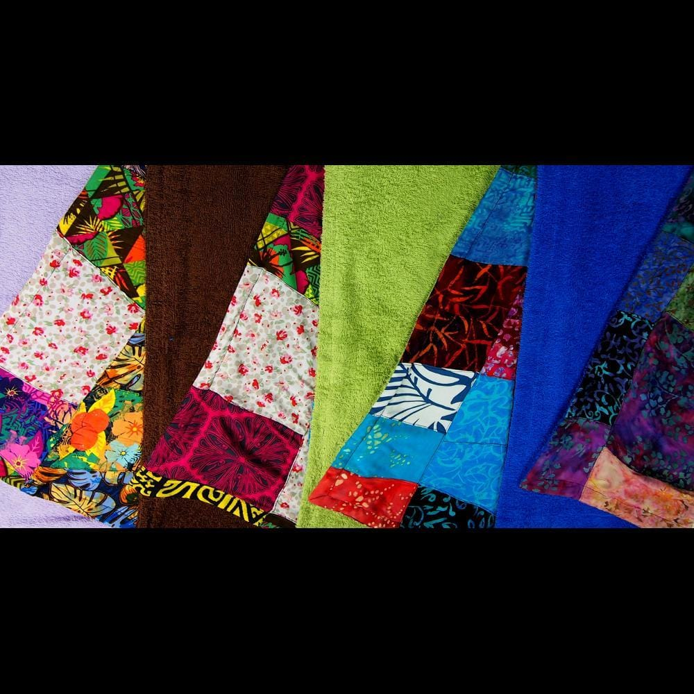 Medium Patchwork Towel-Sarongs-Peaceful People