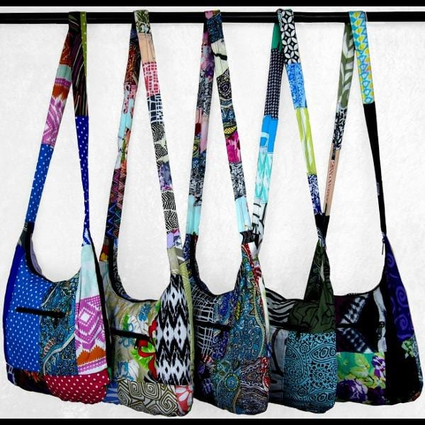 Patchwork Boho Shoulder Bag-Bags & Accessories-Peaceful People