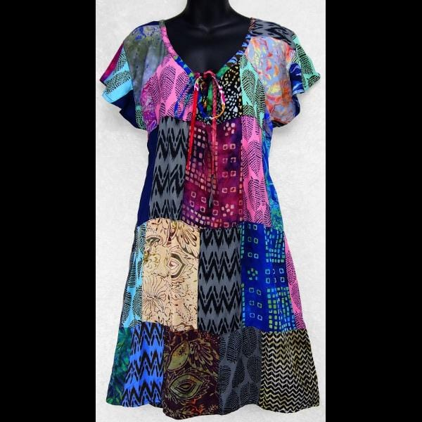 Yvonne's Patchwork Dress-Dresses-Peaceful People