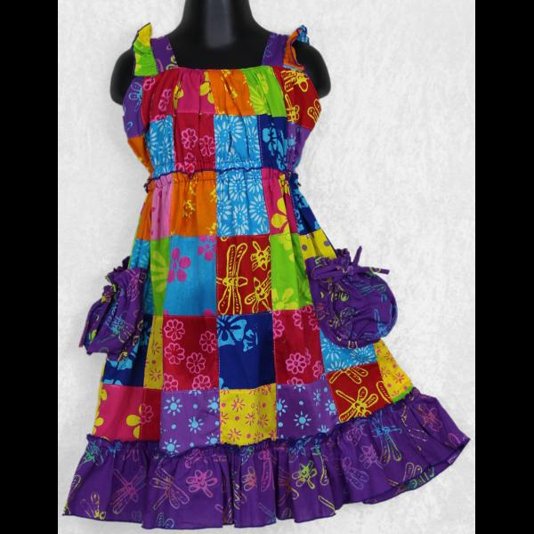 Harper's Patchwork Dress (Ages:2, 4, 6)-Children's Clothes-Peaceful People