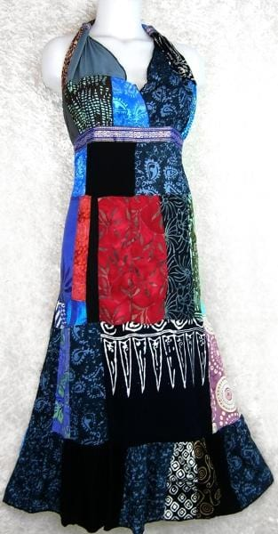 Dharma's Patchwork Dress-Dresses-Peaceful People