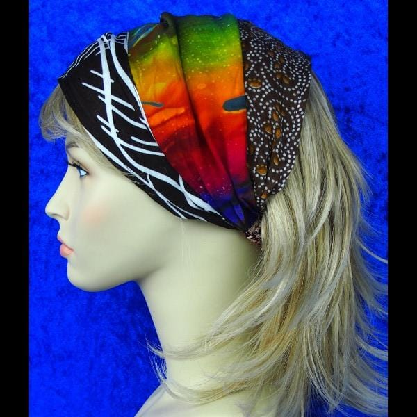 12 Patchwork Elastic Bandana-Headbands ($2.25 each)-Bags & Accessories-Peaceful People