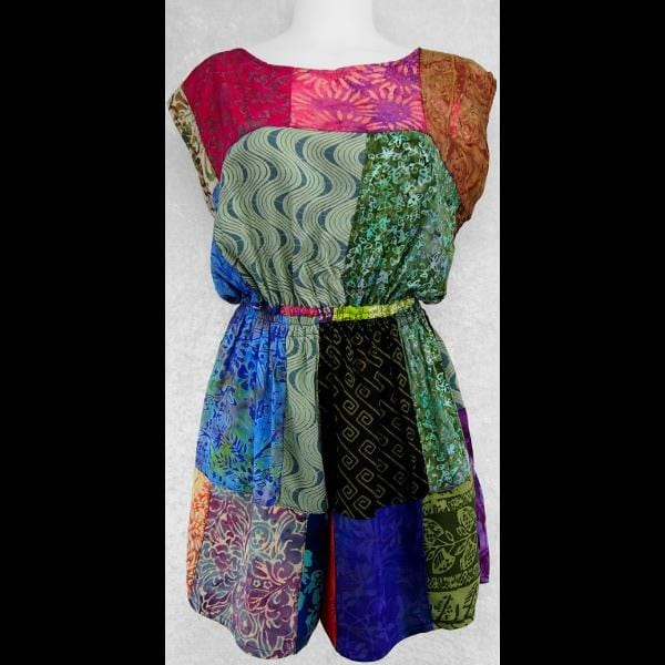 Shelly's Patchwork Jumpsuit-Dresses-Peaceful People