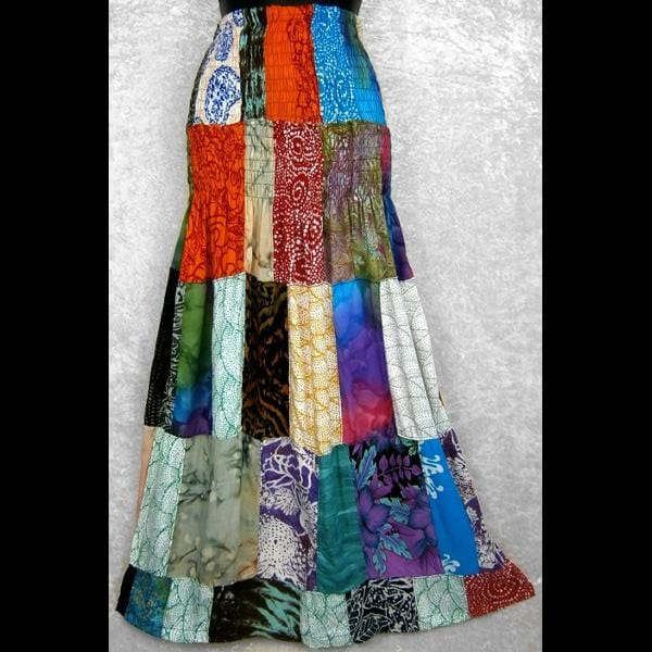 Patchwork Convertible Dress/Skirt-Dresses-Peaceful People