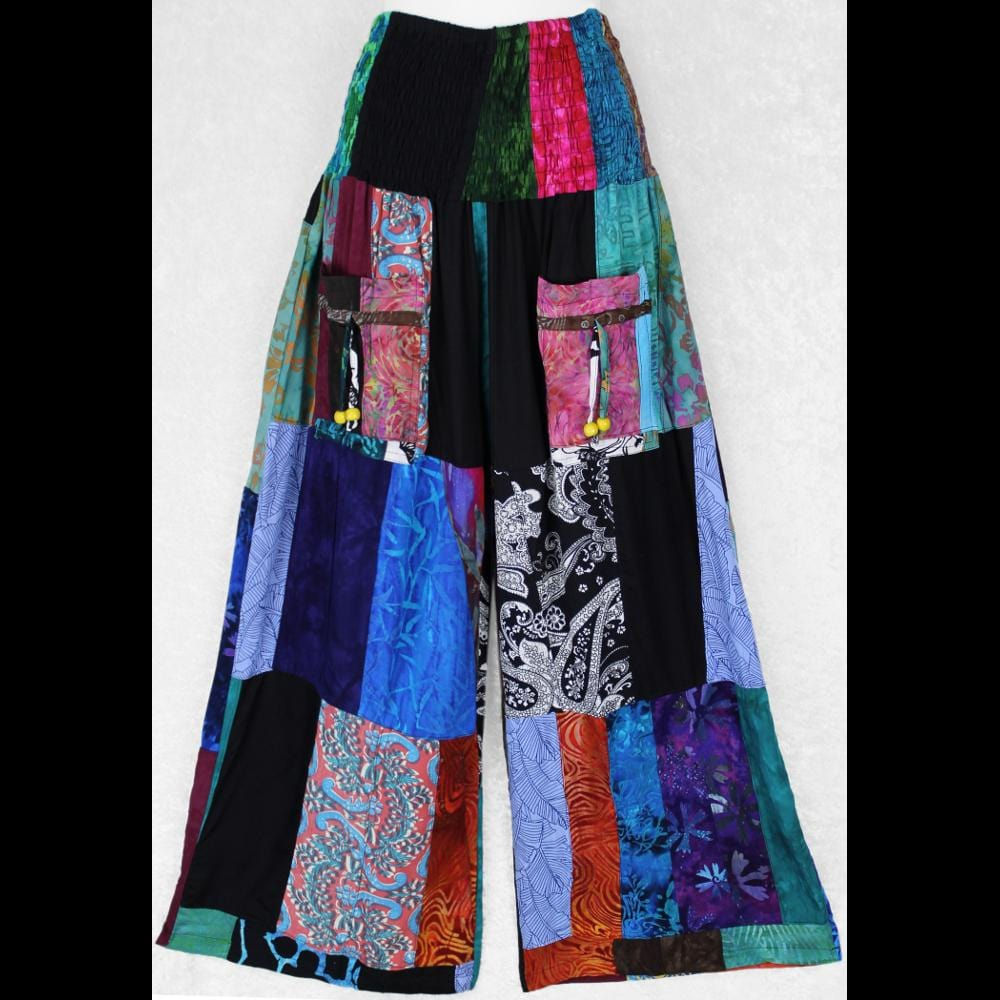 Travelers Patchwork Long Pants-Pants-Peaceful People