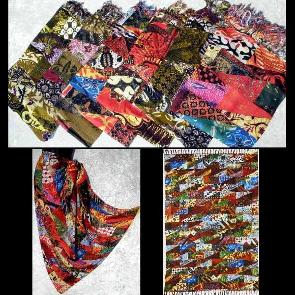 Patchwork Print Sarongs-Sarongs-Peaceful People