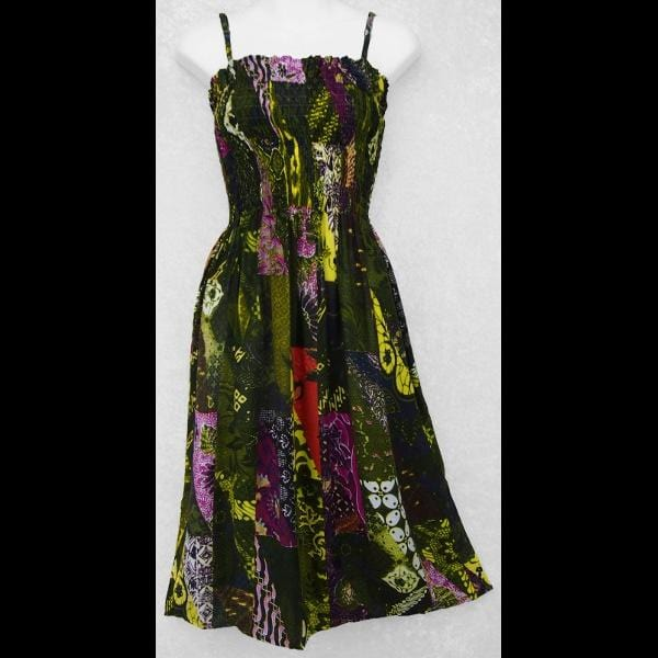 Patchwork Print Dress-Dresses-Peaceful People