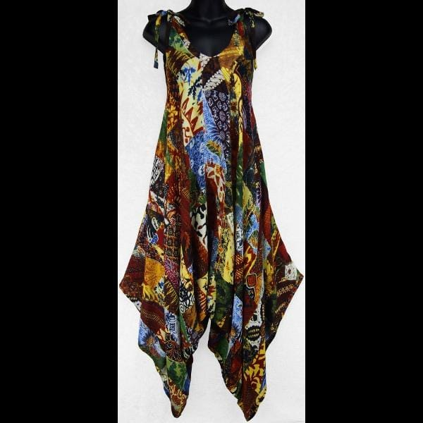 Patchwork Print Divided Dress-Special Deals (reduced prices)-Peaceful People