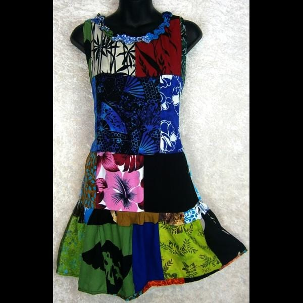 Skylar's Patchwork Dress-Dresses-Peaceful People