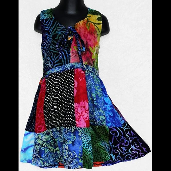 Madison's Patchwork Dress (Ages:2, 4, 6, 8, 10)-Children's Clothes-Peaceful People