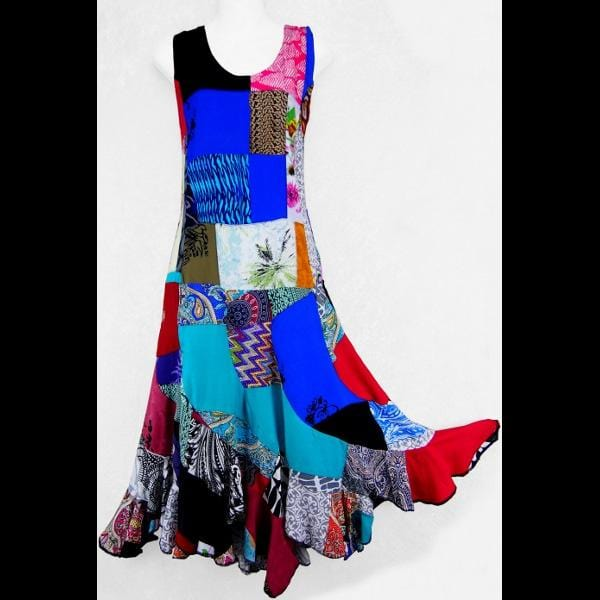 Kristina's Patchwork Dress-Dresses-Peaceful People