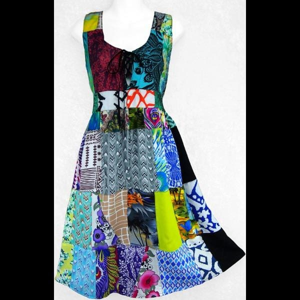 Annalisa's Patchwork Dress-Dresses-Peaceful People