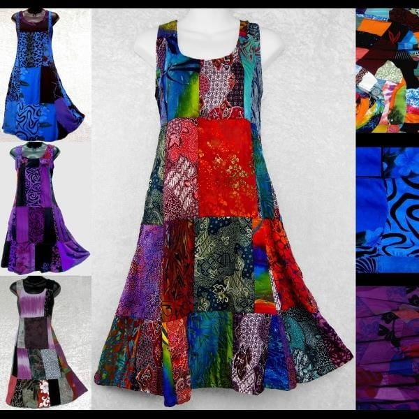 Zoey's Patchwork Dress-Dresses-Peaceful People