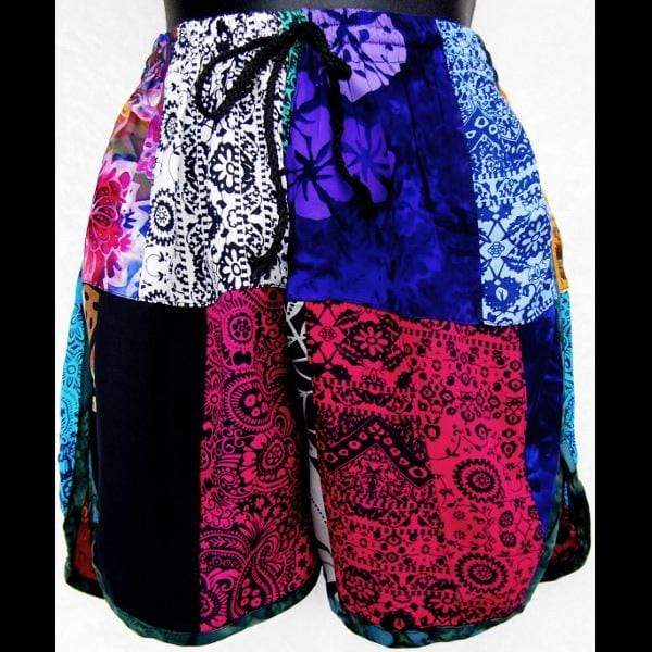 Patchwork Women's Shorts-Pants-Peaceful People