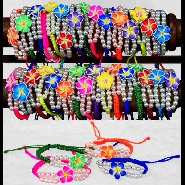 50 Plumeria Bracelets ($0.75 each)-Bracelets & Jewelry-Peaceful People