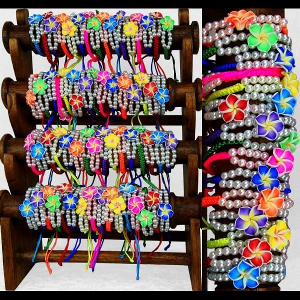 Plumeria Bracelets (DISPLAY PACKAGE)-Bracelets & Jewelry-Peaceful People