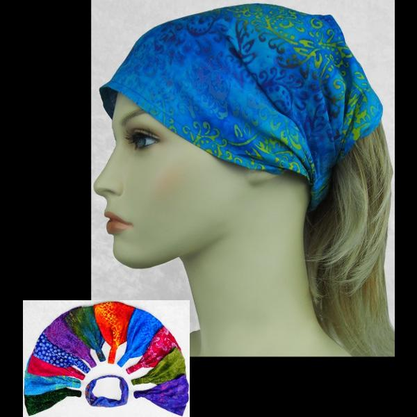 12 Premium Batik Elastic Bandana-Headbands ($1.75 each)-Bags & Accessories-Peaceful People