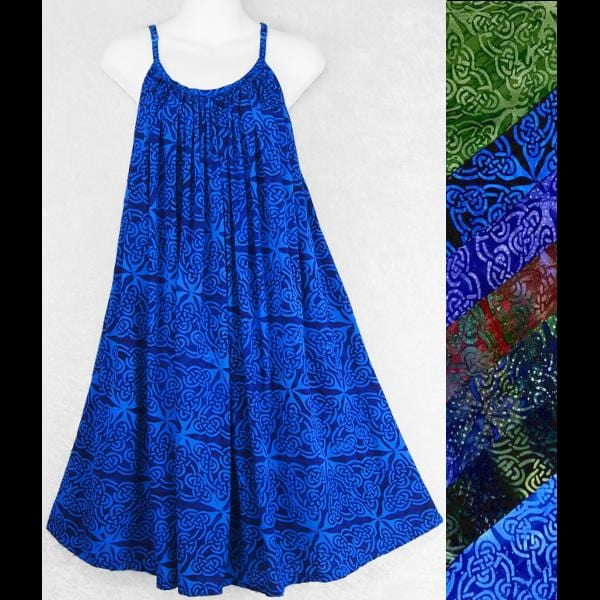 Celtic Premium Batik Parachute Dress-Dresses-Peaceful People