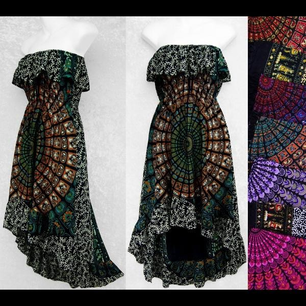 Primitive Mandala Flamenco Dress-Dresses-Peaceful People