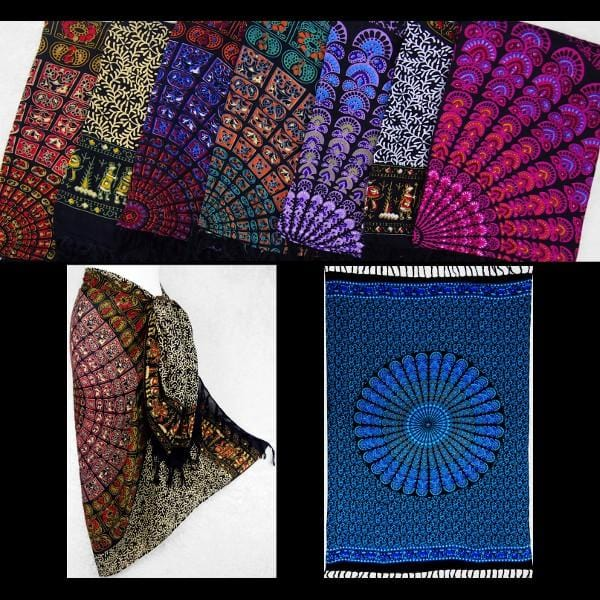 Primitive Mandala Sarongs-Sarongs-Peaceful People