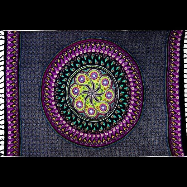 Psychedelic Mandala Sarongs-Sarongs-Peaceful People