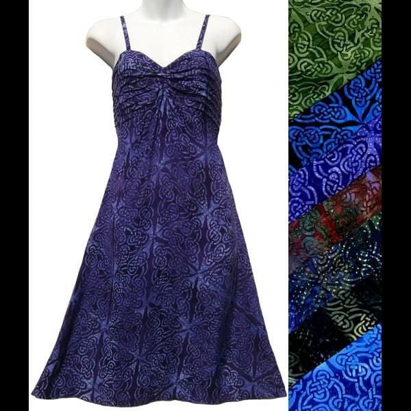 Maya's Batik Celtic Dress-Dresses-Peaceful People